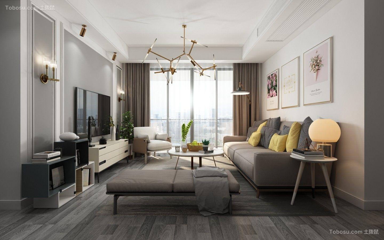 97平现代风格两居室装修效果图
