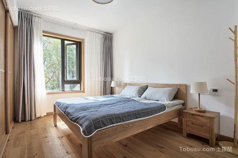 2019现代中式卧室装修设计图片 2019现代中式窗帘装修效果图片