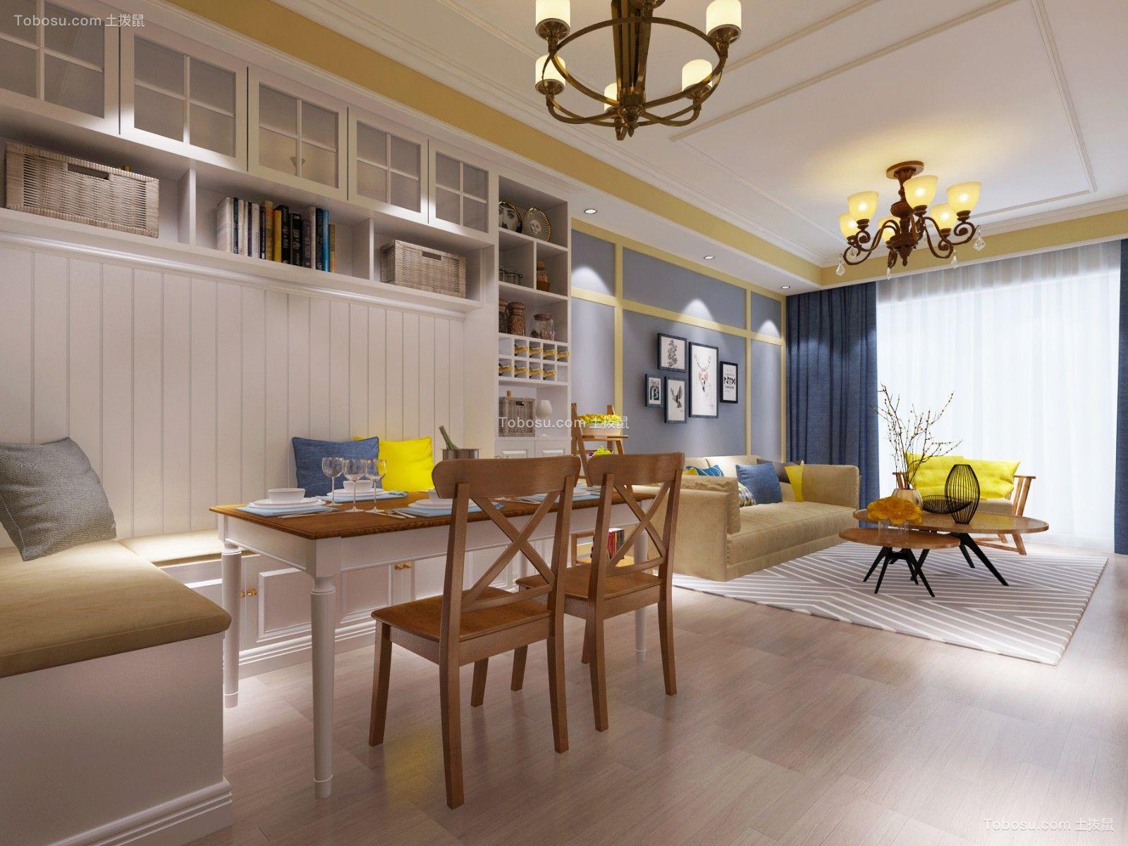 2019美式餐厅效果图 2019美式地板装饰设计