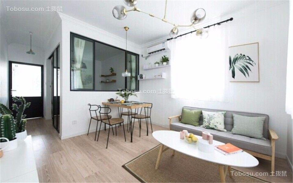 2019简约客厅装修设计 2019简约地板效果图