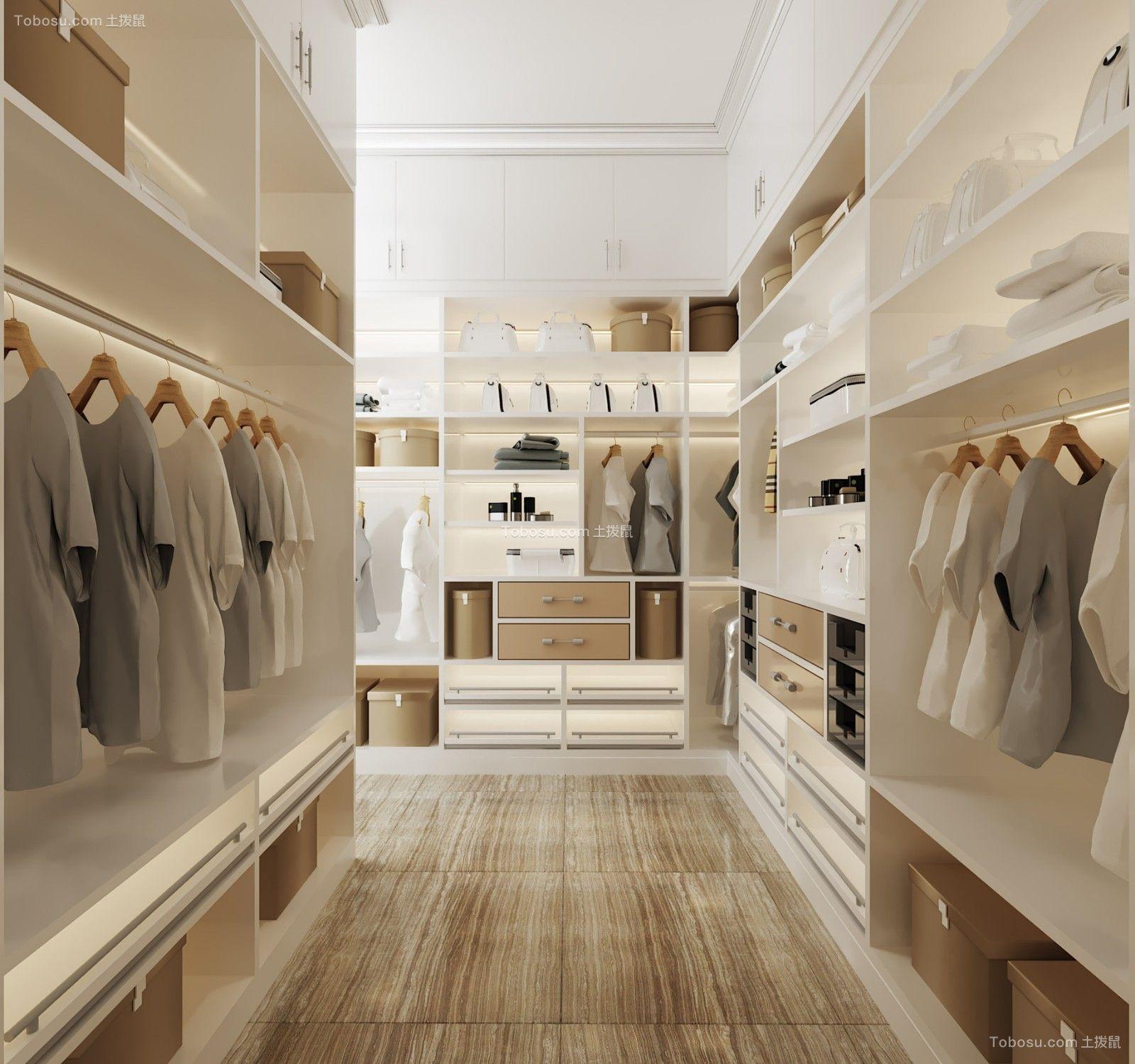 衣帽间 衣柜_89平北欧风格两居室装修效果图