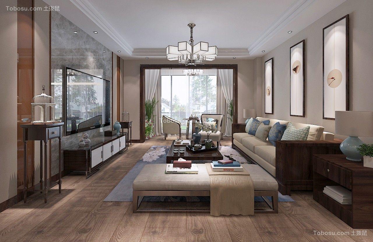 145平中式风格三居室装修效果图