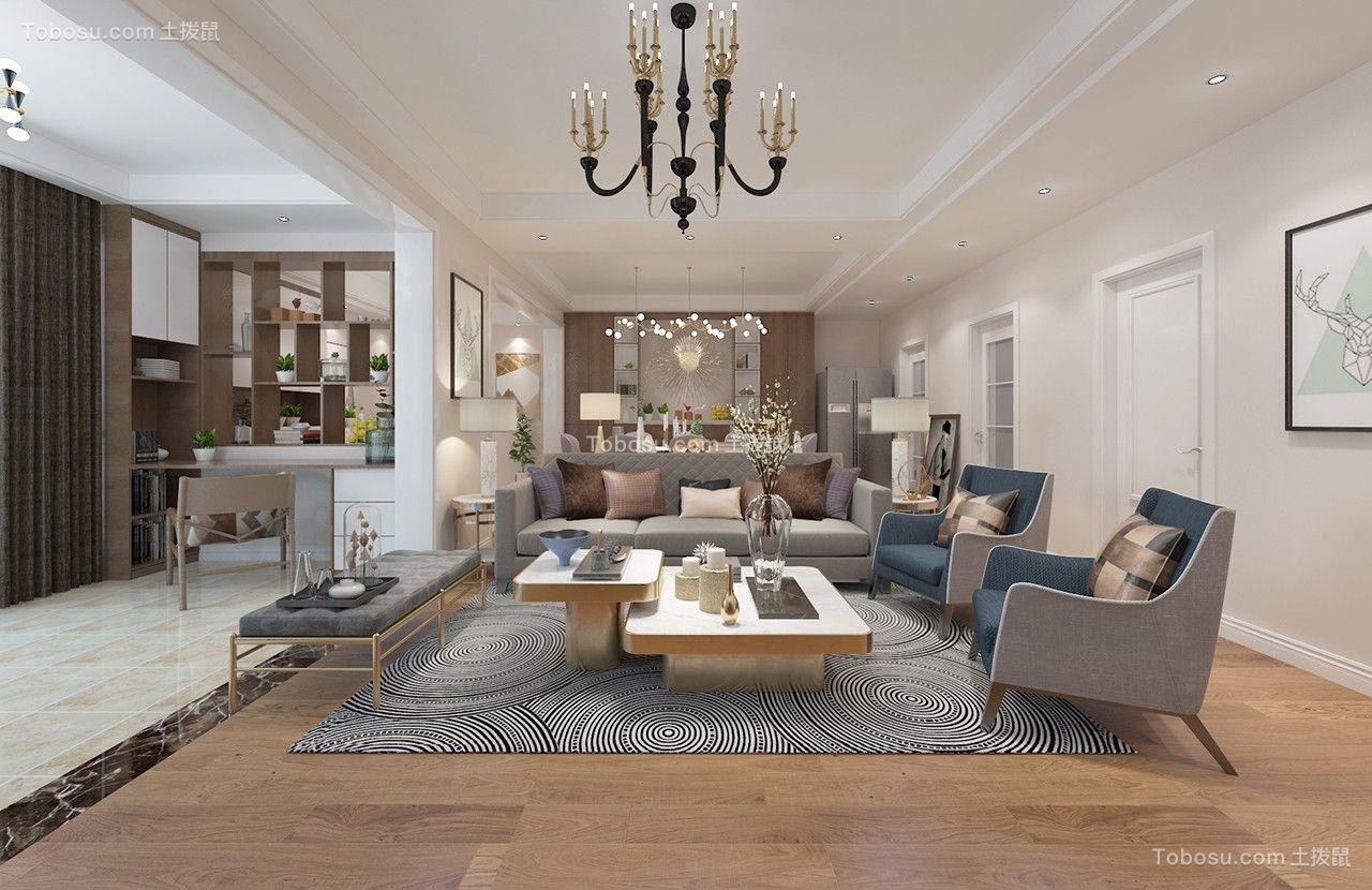 175平现代风格三居室装修效果图