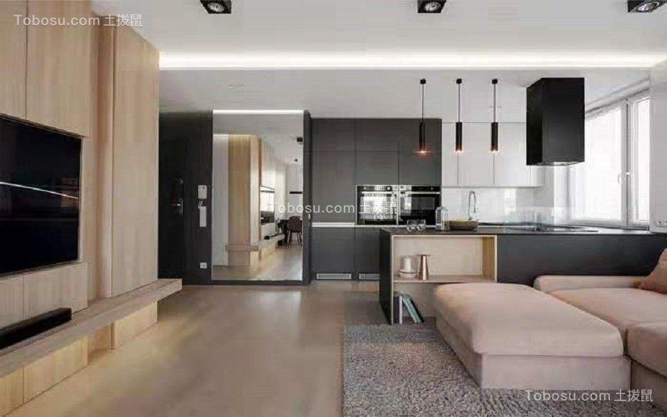 118平现代简约风格两居室装修效果图