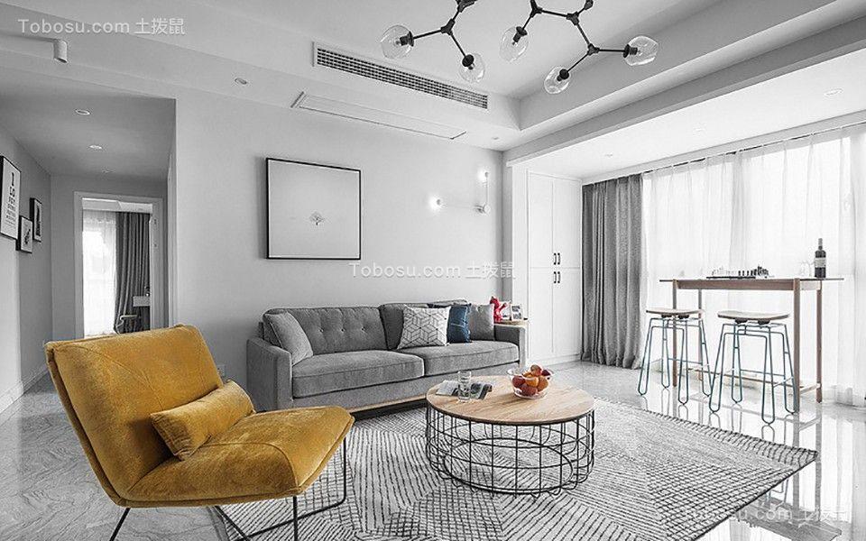 96平简约风格两居室装修效果图