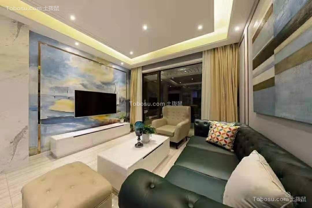 100平现代欧式风格三居室装修效果图
