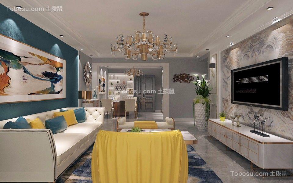 120平现代简约风格两居室装修效果图