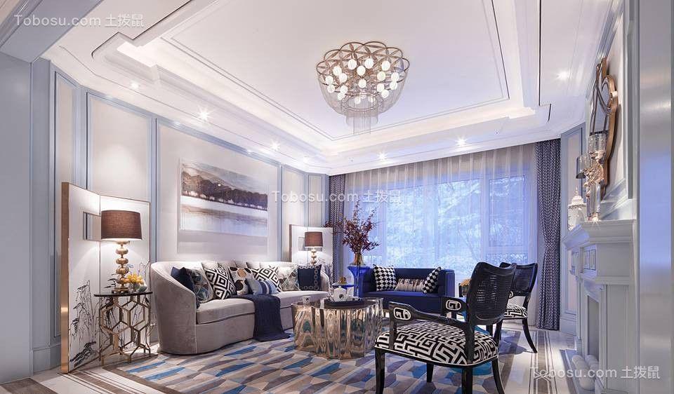 98平欧式风格两居室装修效果图