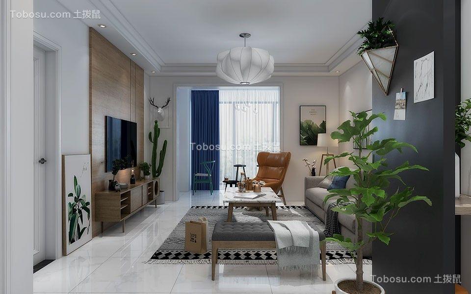 130平现代简约三居室装修效果图