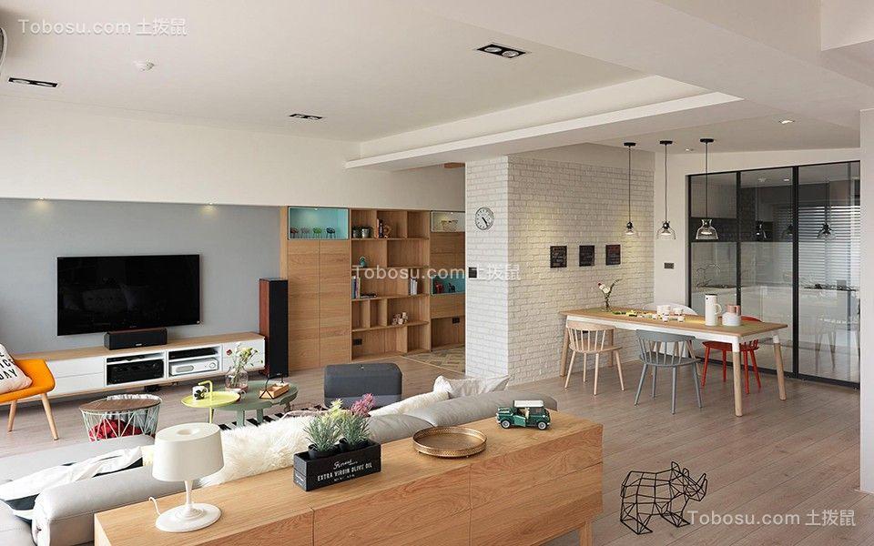 二居室北欧风格米色温馨装修设计