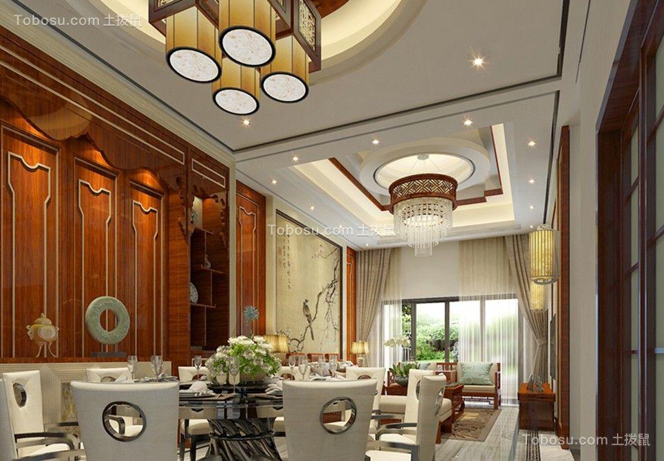 餐厅 吊顶_传统的中式古典四居室装修效果图