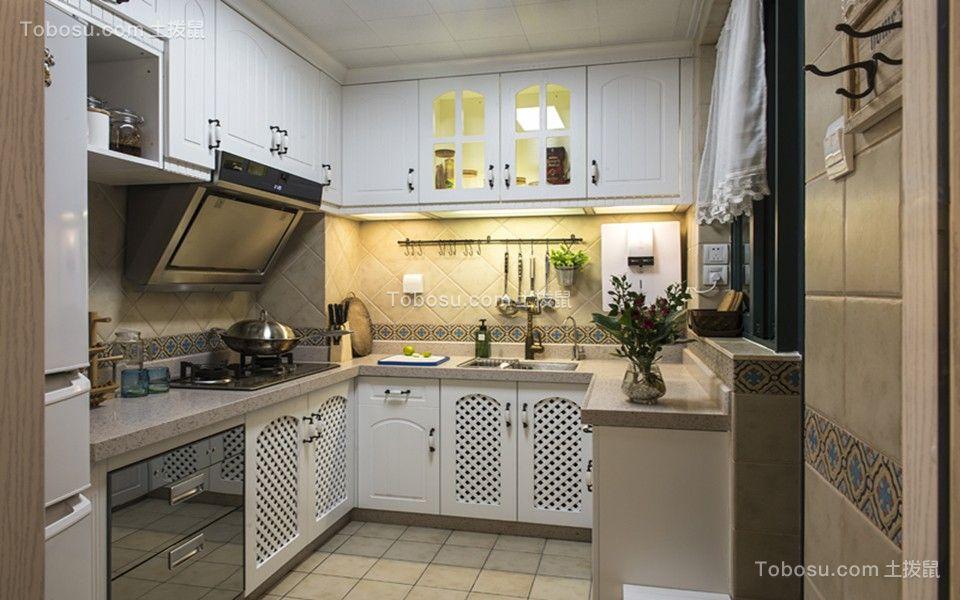 2019地中海厨房装修图 2019地中海橱柜装修效果图片