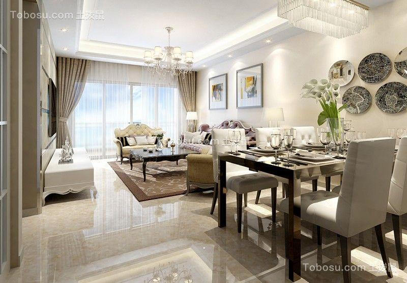 绿岛明珠 5房2厅3卫简欧风格装修设计
