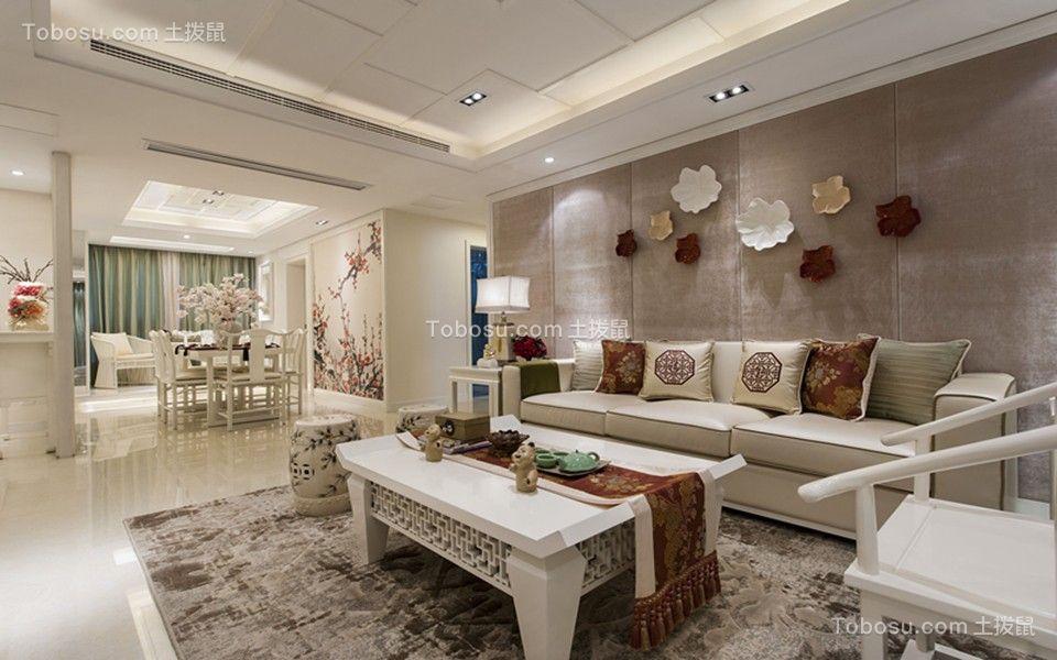 216平新中式风格四居室案例图