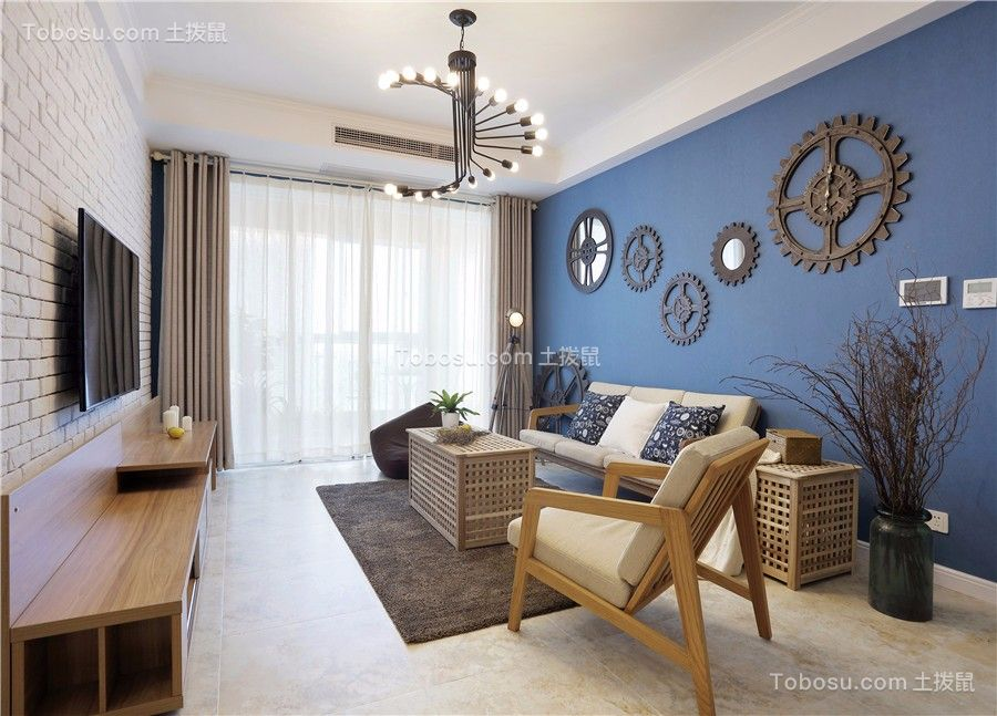 江都仕嘉北欧风格127平三居室案例