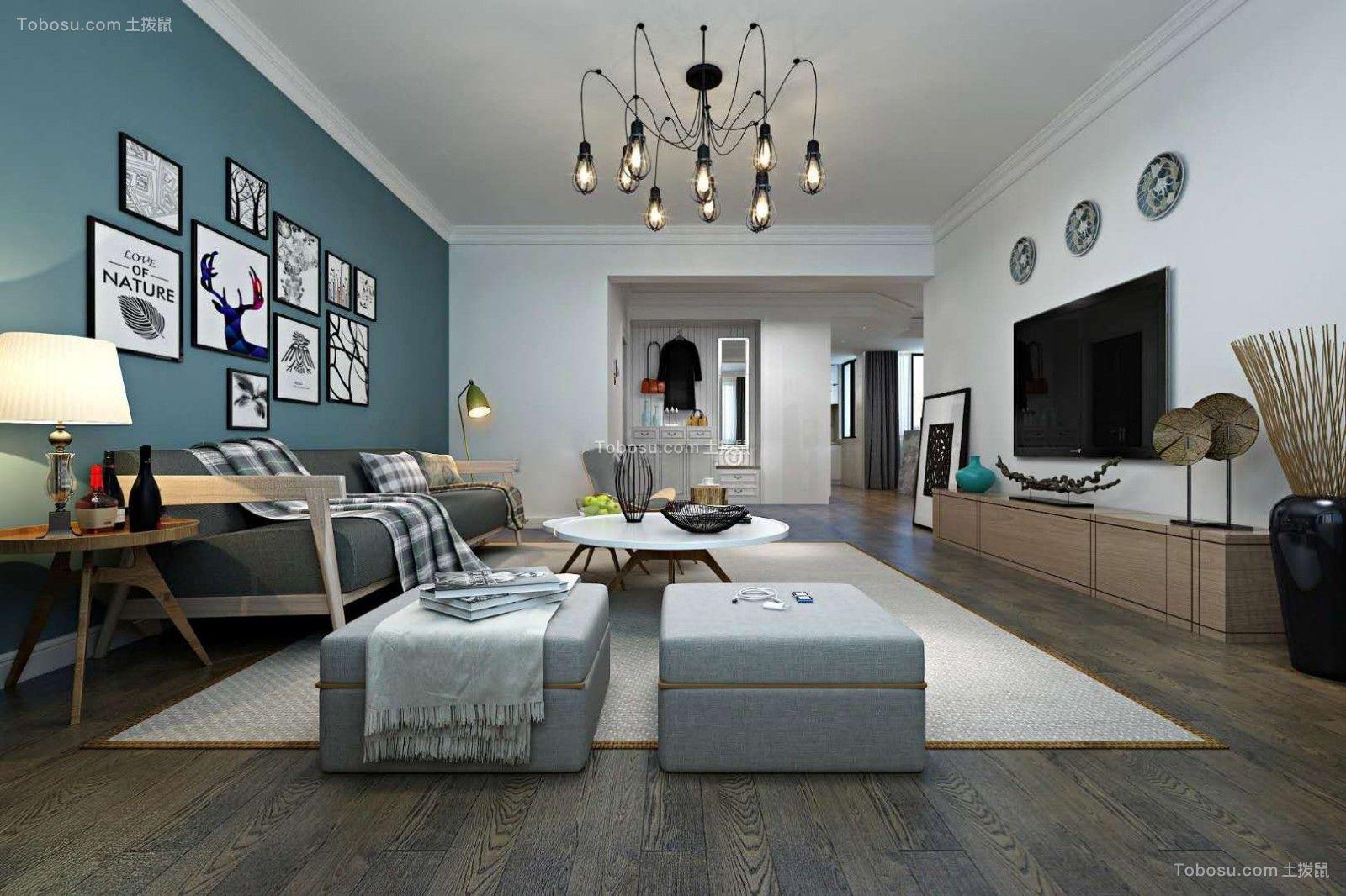 北城国际-恋梦空间北欧三居室装修效果图