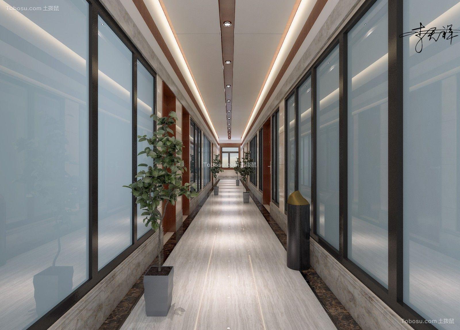 办公楼一楼走廊