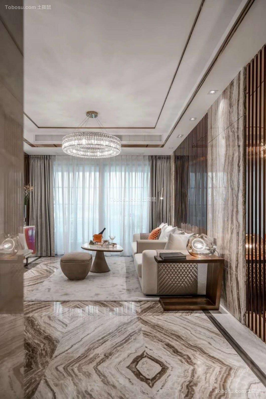 2019现代简约起居室装修设计 2019现代简约窗台装修图片