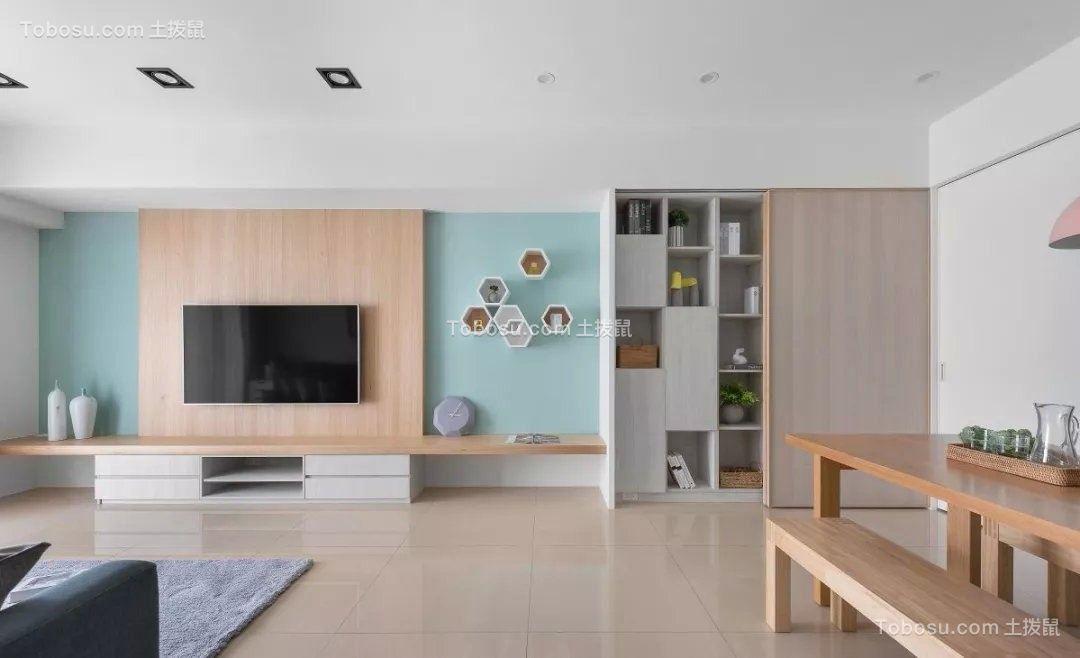 北欧小清新二居室装修效果图