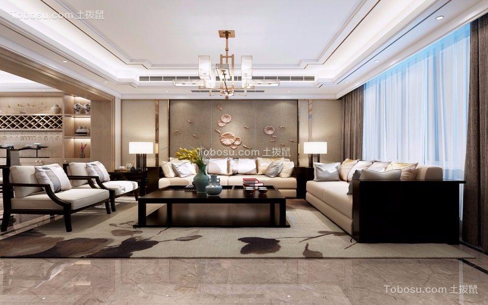 120平米三室两厅新中式装修风格
