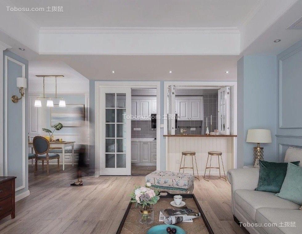 140平美式三室两厅装修设计