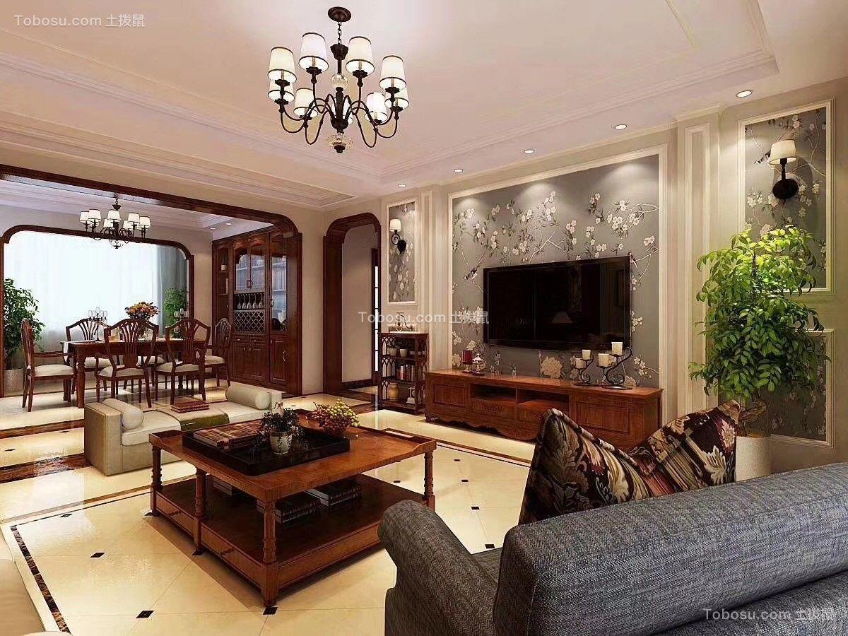 130平三室两厅中式风格装饰案例