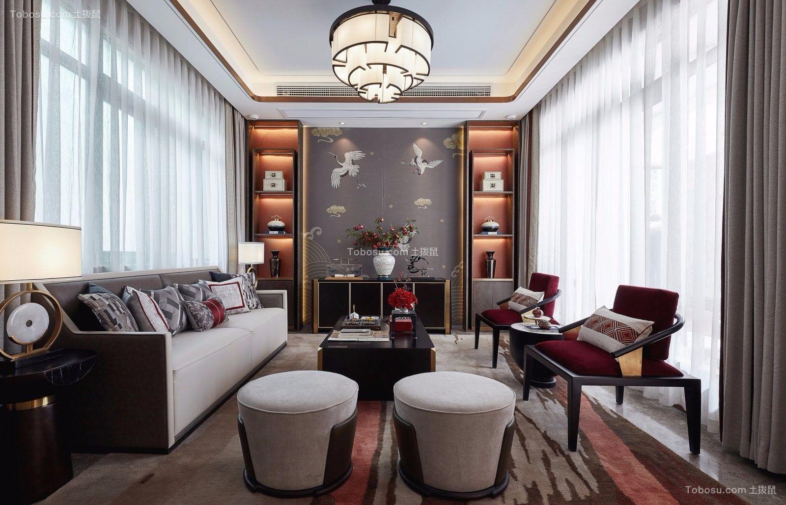 300平新中式别墅设计装修效果图