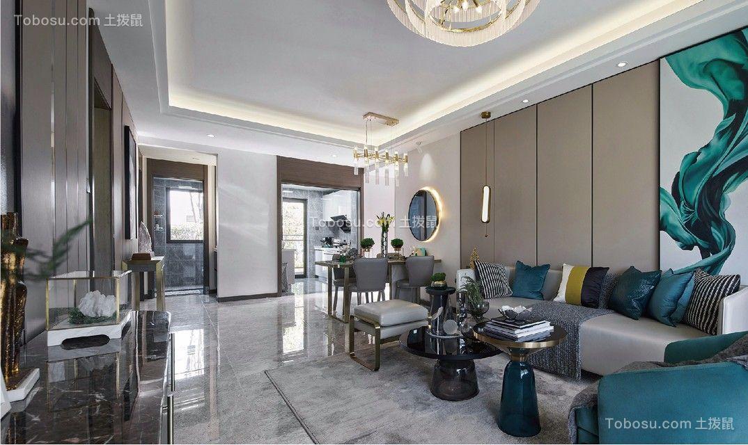 2019现代客厅装修设计 2019现代茶几效果图