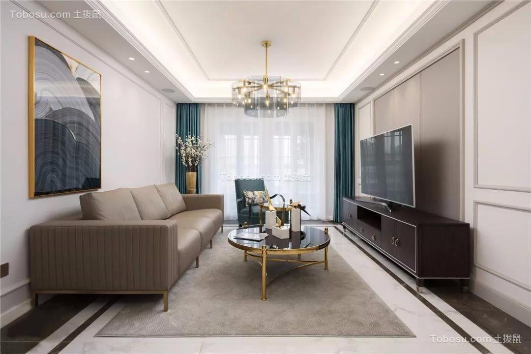 110平轻奢美式3室2厅装修设计图