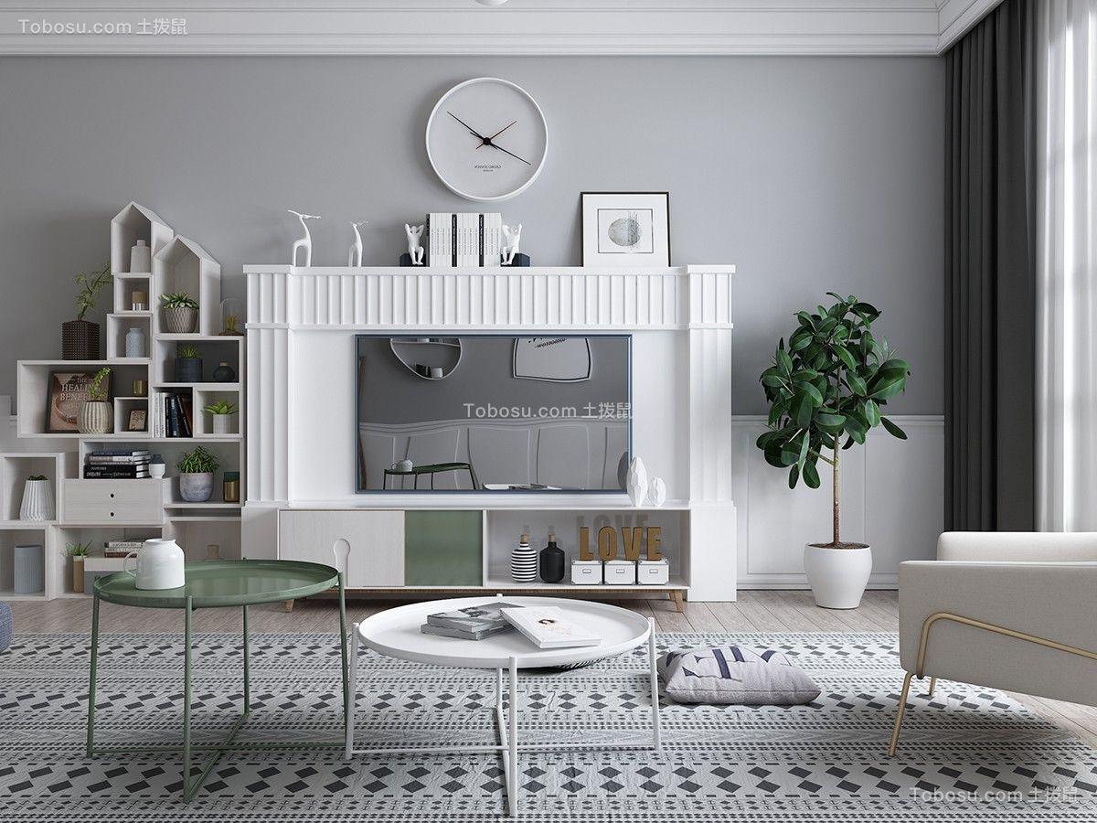 2019现代客厅装修设计 2019现代电视背景墙图片