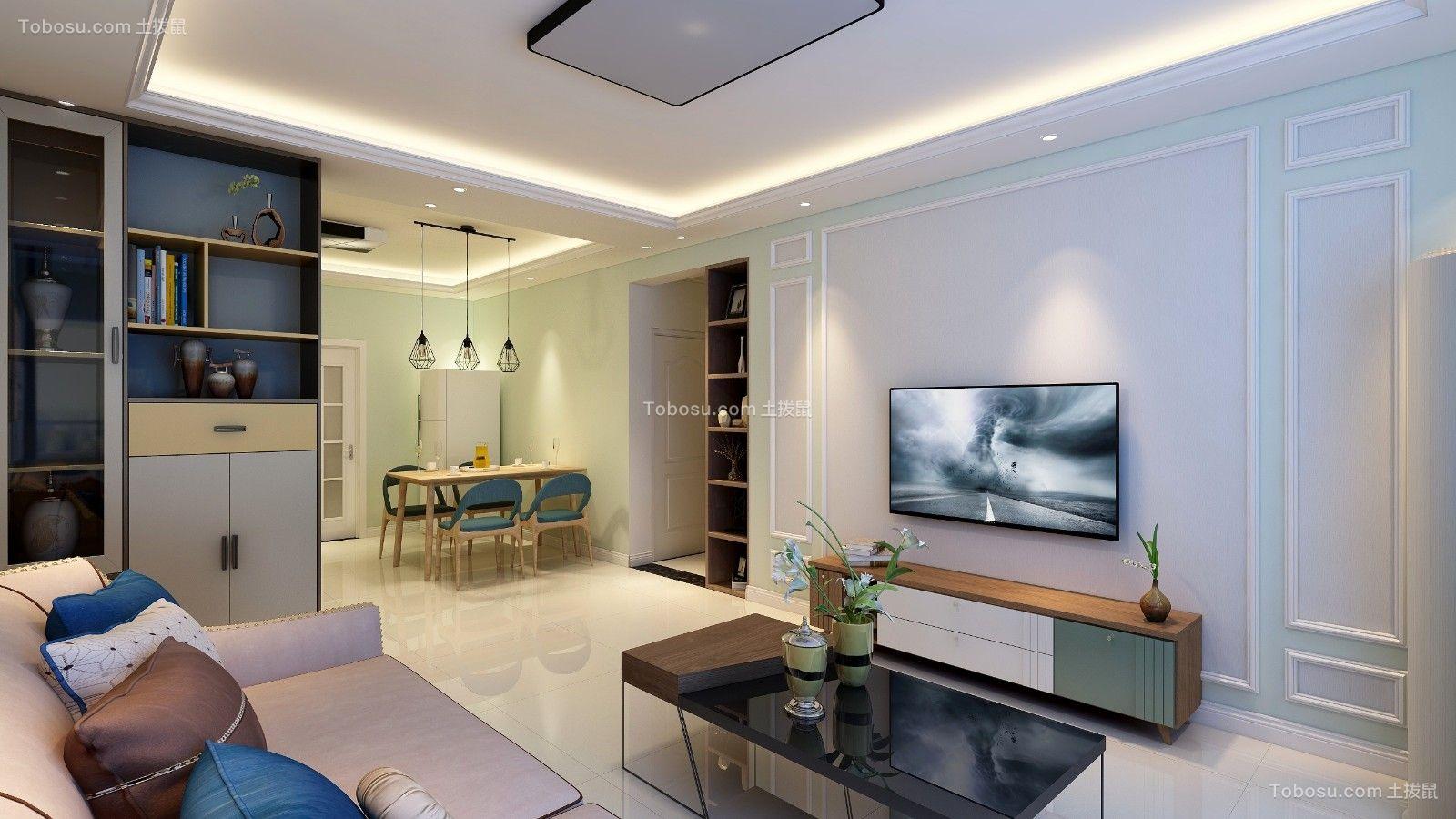120平米三室一厅现代简约风格装修