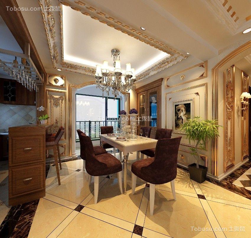 欧式风格290平别墅装修设计效果图