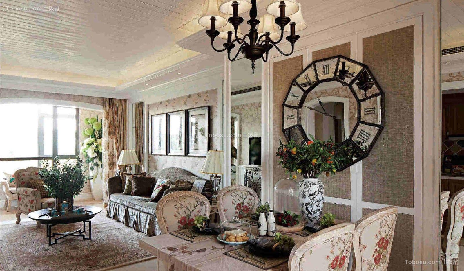 三室一厅两卫120平欧式装修风格