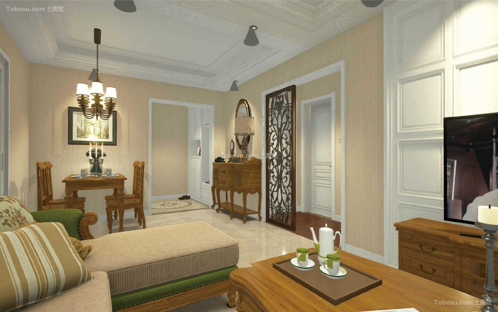三室一厅两卫100平新中式装修案例