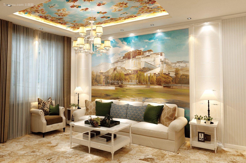 三室一厅一卫100平简欧装修效果图