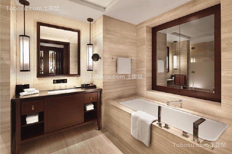 2019中式卫生间装修图片 2019中式浴室柜装修图片