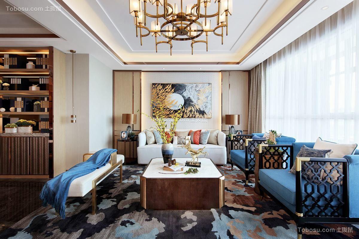 新中式113平二居室设计图片