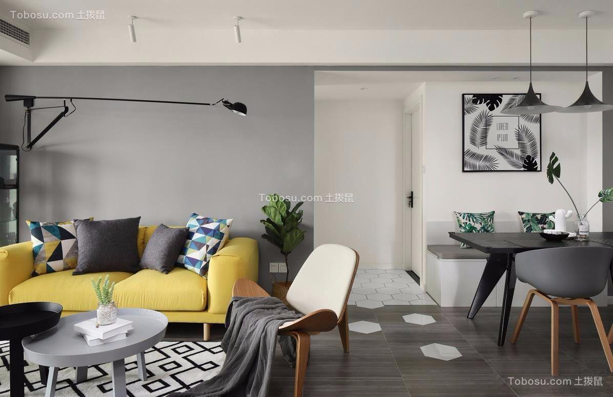 113平米两居室北欧风格案例图片