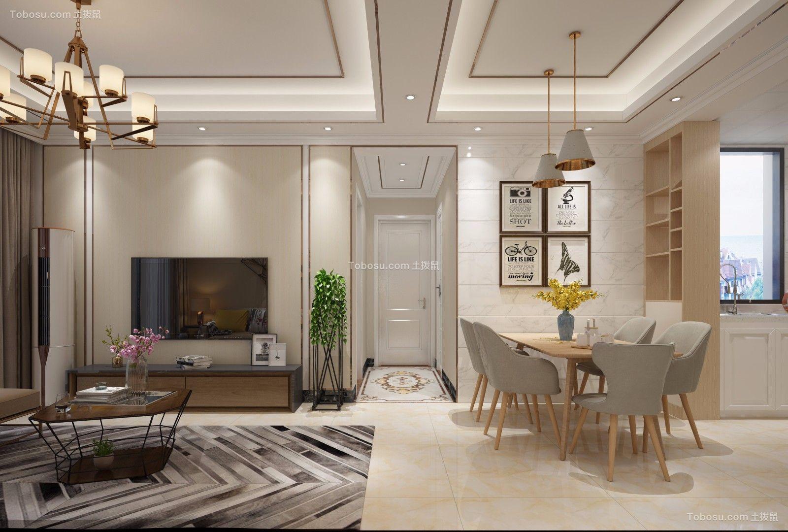 2019简约客厅装修设计 2019简约走廊装修效果图大全