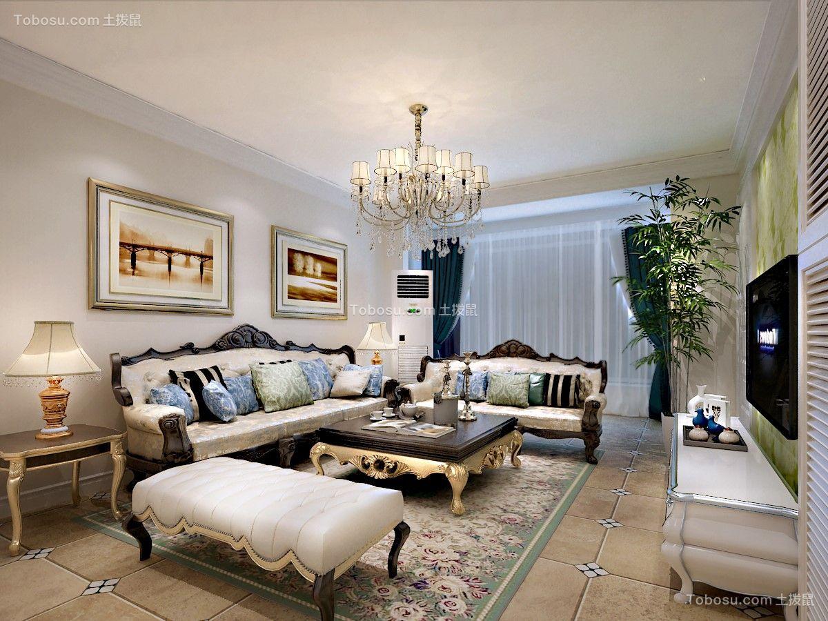 大溪谷130平三室美式风格效果图