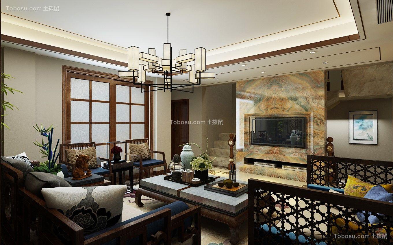 海棠湾中式美式风格别墅效果图