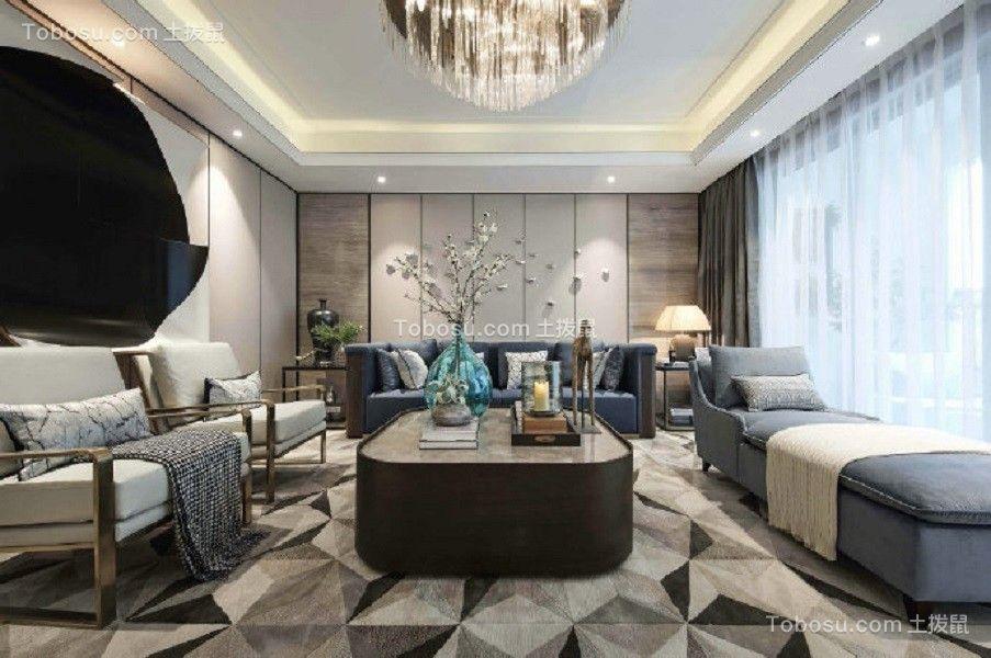 130平米新中式风格三室装修效果图