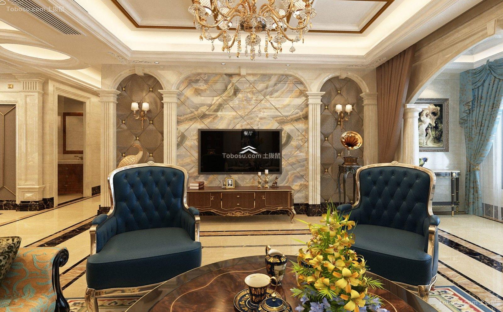 280平米欧式四室两厅装修效果图