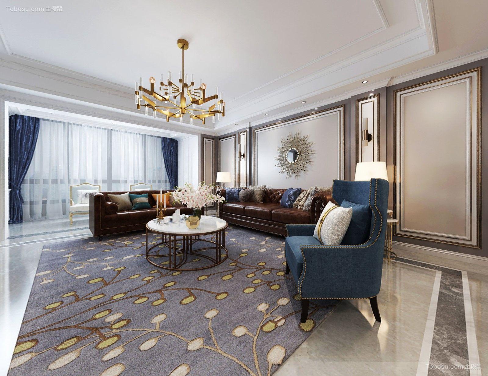 160平米美式风格四室两厅大户型案例图片