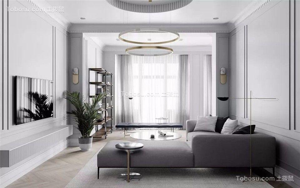 180平米轻奢简约风格公寓装修案例图片