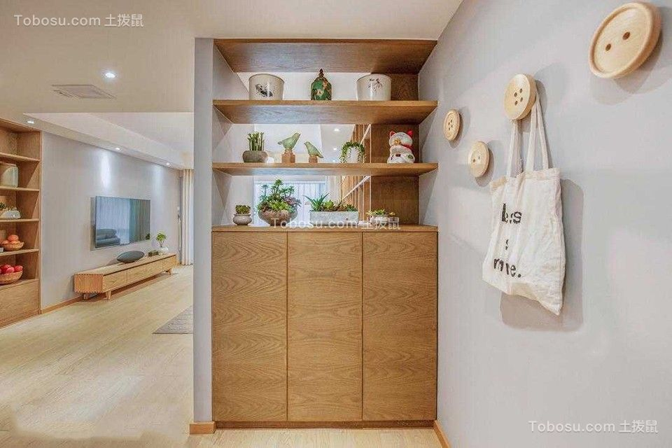 123平日式风格三室两厅装修效果图