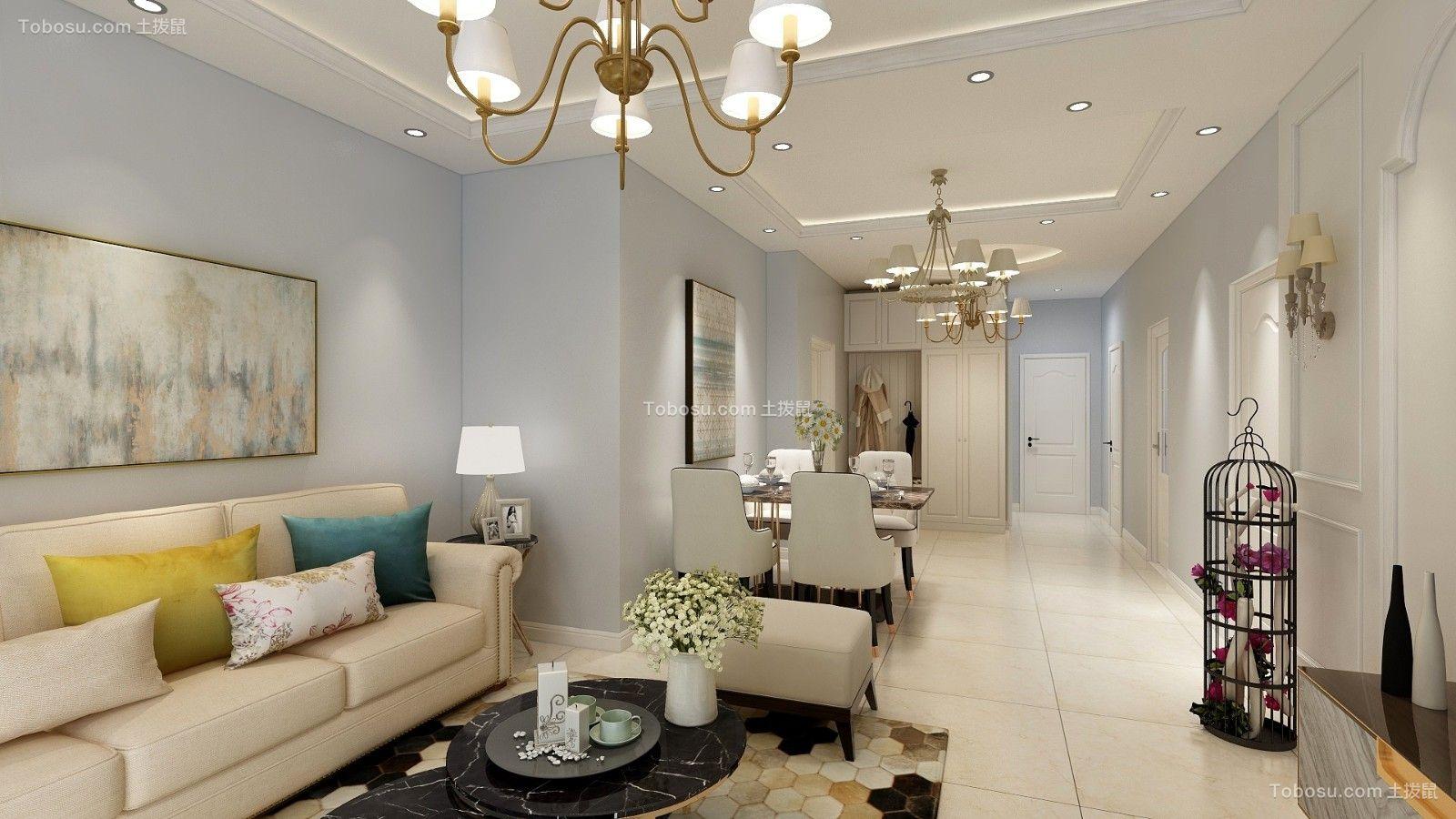 2019美式客厅装修设计 2019美式走廊效果图