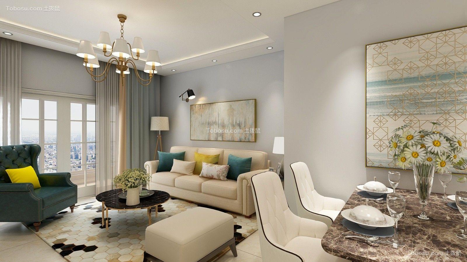 2019美式客厅装修设计 2019美式沙发装修图