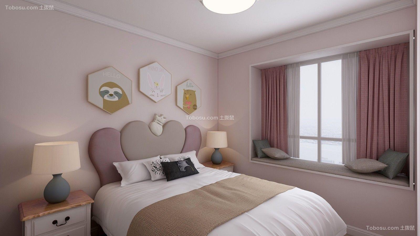 2019北欧儿童房装饰设计 2019北欧床装修效果图片