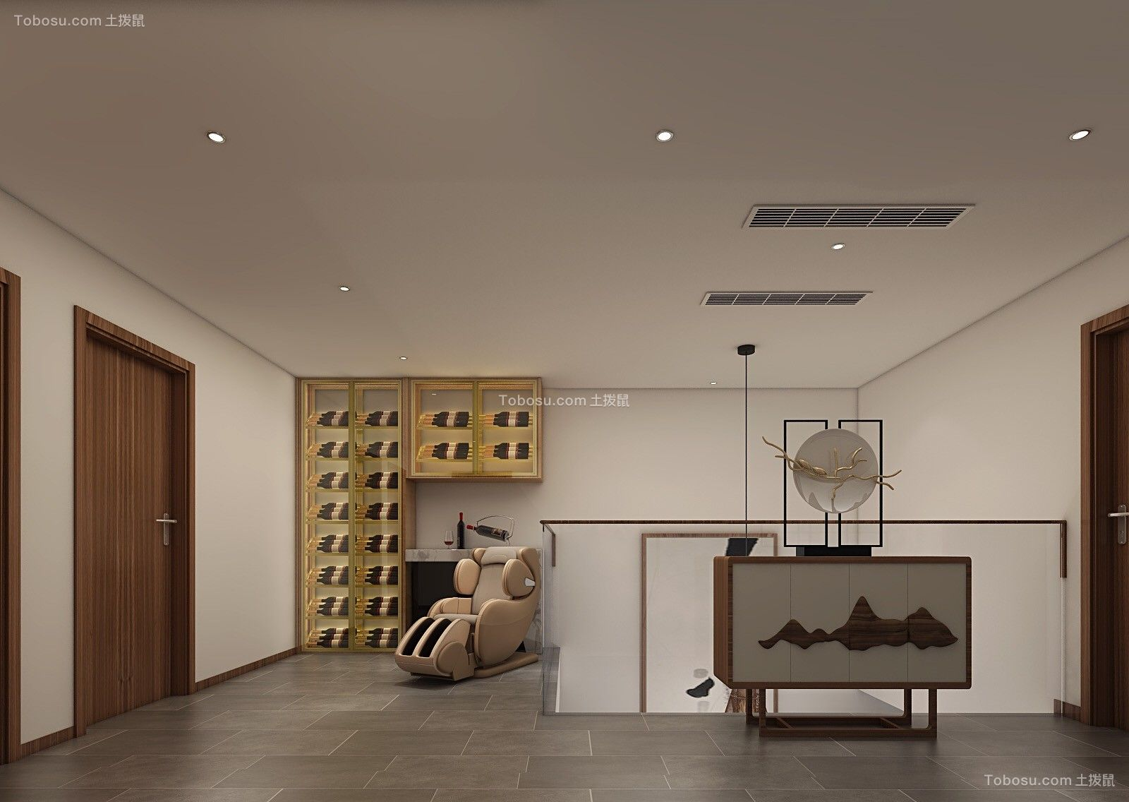2019日式起居室装修设计 2019日式走廊效果图